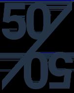 Earn 50 percent