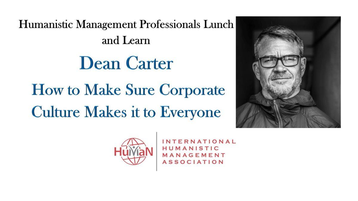 Dean Carter Corporate Culture