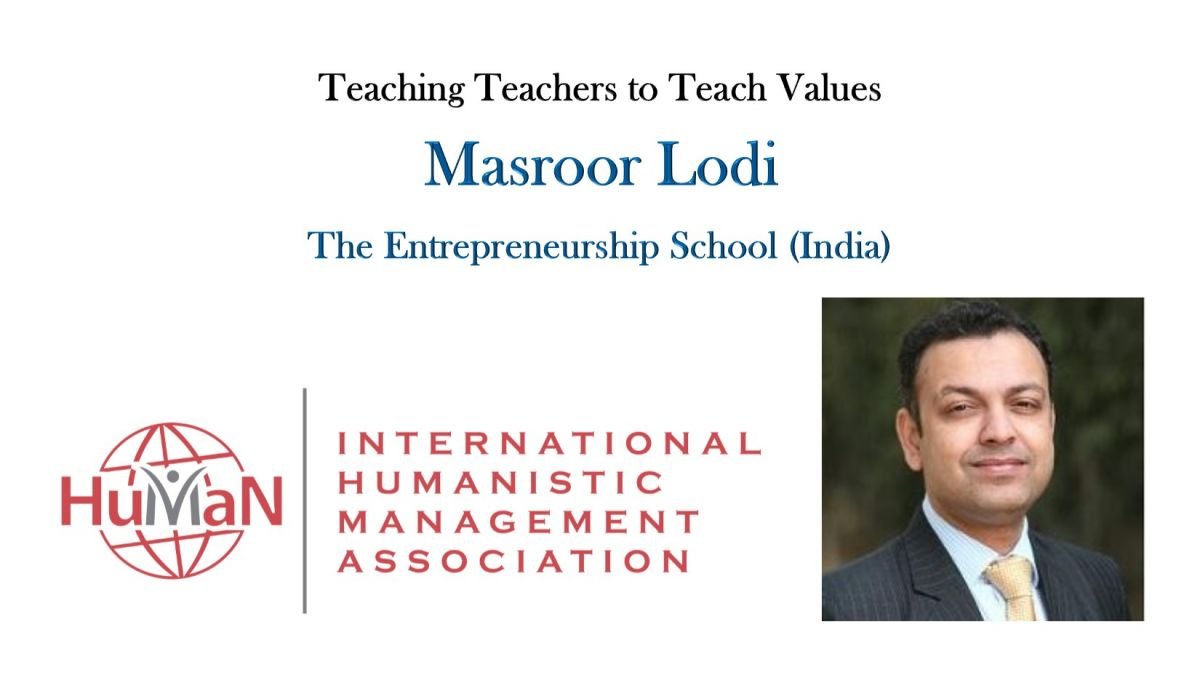Masroor Lodi - Teaching Teachers to Teach Values
